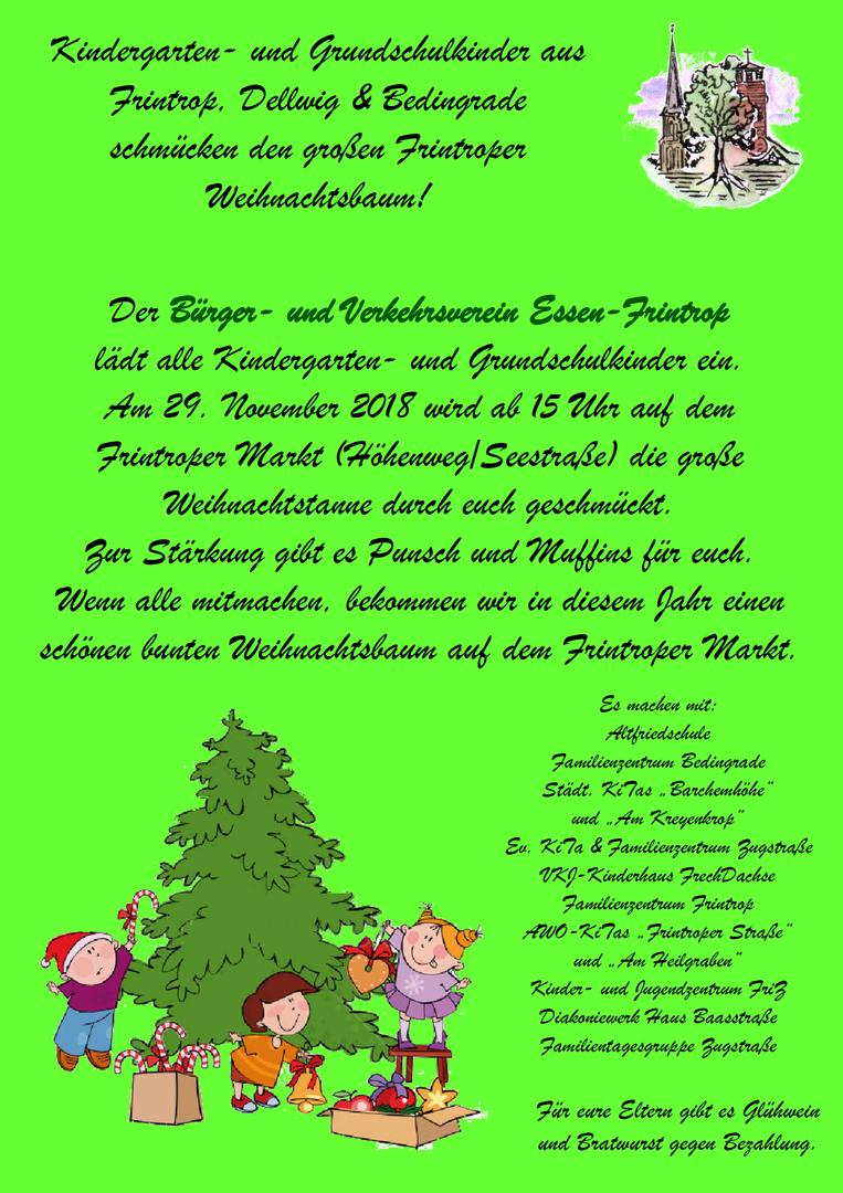 Weihnachtsbaum Kaufen Essen.Bürger Und Verkehrsverein Essen Frintrop Weihnachtsbaum